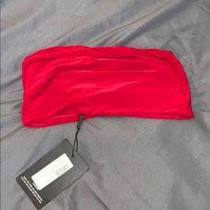 Red slinky bandeau
